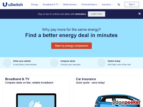uSwitch - Cheap Gas & Electricity, Car