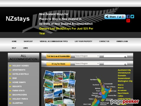 New Zealand Accommodation - NZstays