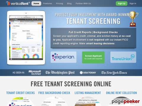 Tenants Screening Services